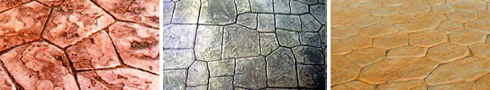 Random Stone Pattern Stamped Concrete Vancouver